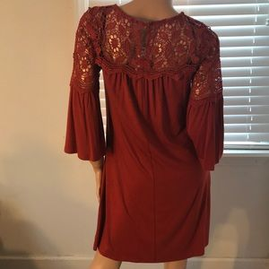Nina Leonard dress with laced features: NWT; Med